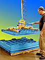 ANVER Air Powered Vacuum Lifter Lets One Person Unstack Nested Trays