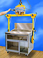 ANVER Battery Powered Vacuum Lifter with Fork Lift Frame for Handling Sheet and Plate