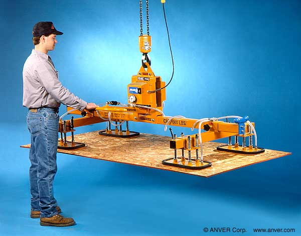 Vacuum Lifters Let One Person Handle Sheet