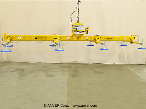 ANVER Eight Pad Electric Powered Vacuum Lifter for Lifting Steel Plate 20 ft x 8 ft (6.1 m x 2.4 m) up to 4000 lb (1814 kg)