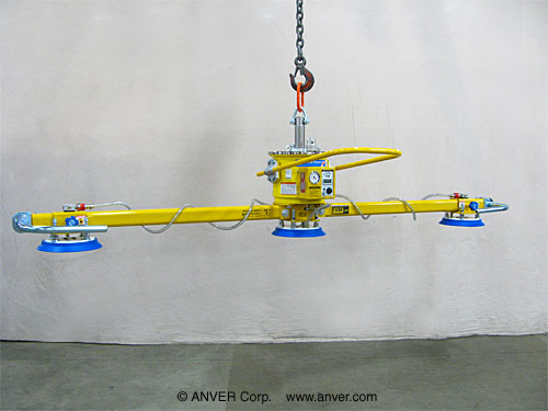 ANVER Three Pad Self-Powered Mechanical Vacuum Lifter