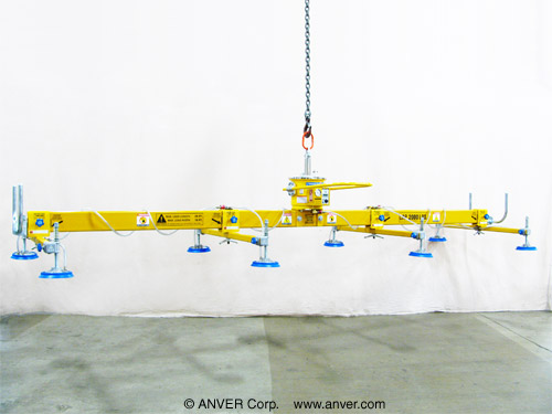 ANVER Eight Pad Self-Powered Mechanical Vacuum Lifter