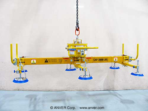 ANVER Six Pad Self-Powered Mechanical Vacuum Lifter