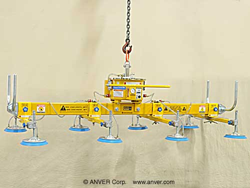 ANVER Eight Pad Self-Powered Mechanical Vacuum Lifter Model# M400M8-110-4/44