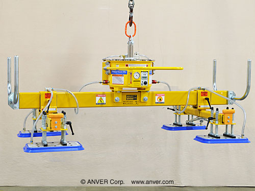 ANVER Four Pad Self-Powered Mechanical Vacuum Lifter