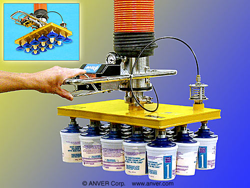 Vacuum Vacuum Tube Lifter Picks Up Layers Of Products