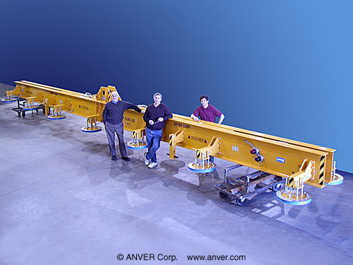 ANVER Fourteen Pad Electric Powered Vacuum Lifter for Lifting & Handling Steel Plate, 50 ft x 10 ft (15.2 m x 3.0 m) up to 30,000 lb (13, 608 kg)
