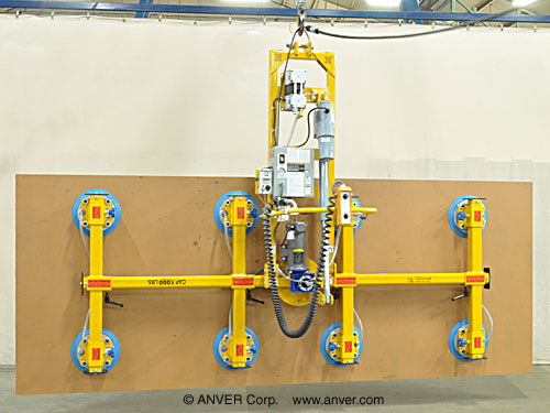 ANVER Electric Powered Vacuum Lifter with Powered Tilter and Powered Rotator