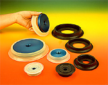 ANVER VP Series Vacuum Cups with Center Port and Replaceable Seals