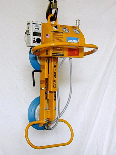 ANVER Two Pad Air Powered Vacuum Lifter with Manual Tilt