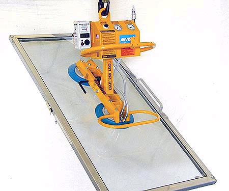 ANVER Two Pad Air Powered Vacuum Lifter with Manual 90 Degree Tilter
