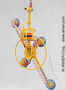 ANVER Air Powered Vertical Vacuum Lifter with Manual Rotate and Tilt