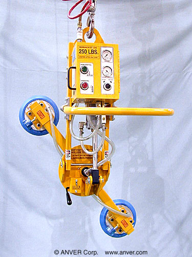 ANVER Two Pad Air Powered Tilter with Manual Rotation for Lifting & Tilting Glass Sheets 6 ft x 4 ft (1.8 m x 1.2 m) up to 250 lb (113 kg)