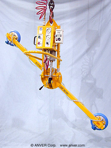 ANVER Two Pad Air Powered Lifter with Powered Tilt and Manual Rotation for Lifting & Tilting Countertops 10 ft x 4 ft (3.0 m x 1.2 m) up to 250 kg (113 kg)