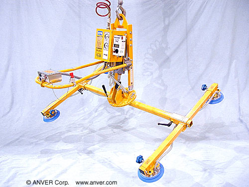 ANVER Four Pad Air Powered Tilter with Manual Rotation for Lifting & Tilting Plastic Panels 10 ft x 6 ft (3.1 m x 1.8 m) up to 250 lb (113 kg)