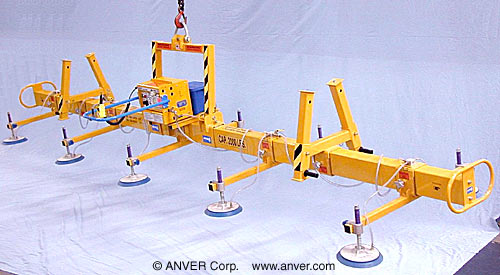 ANVER Ten Pad Battery Powered Lifter for Lifting Steel Panels 23 ft x 8 ft (7.0 m x 2.4 m) up to 2000 lb (907 kg)