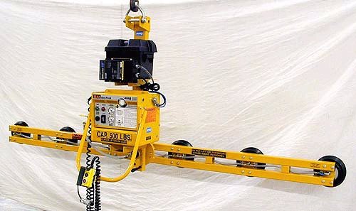 ANVER Six Pad Battery Powered Vertical Vacuum Lifter with Manual Rotation and Special Soft Touch Bellows Cups