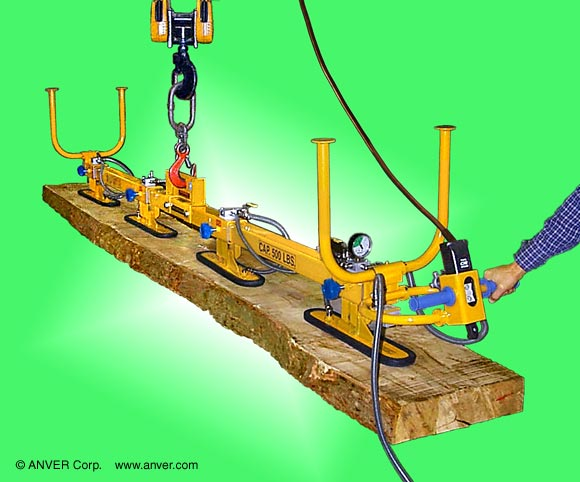 Special Four Pad Vacuum Lifting Beam for Wood Handling