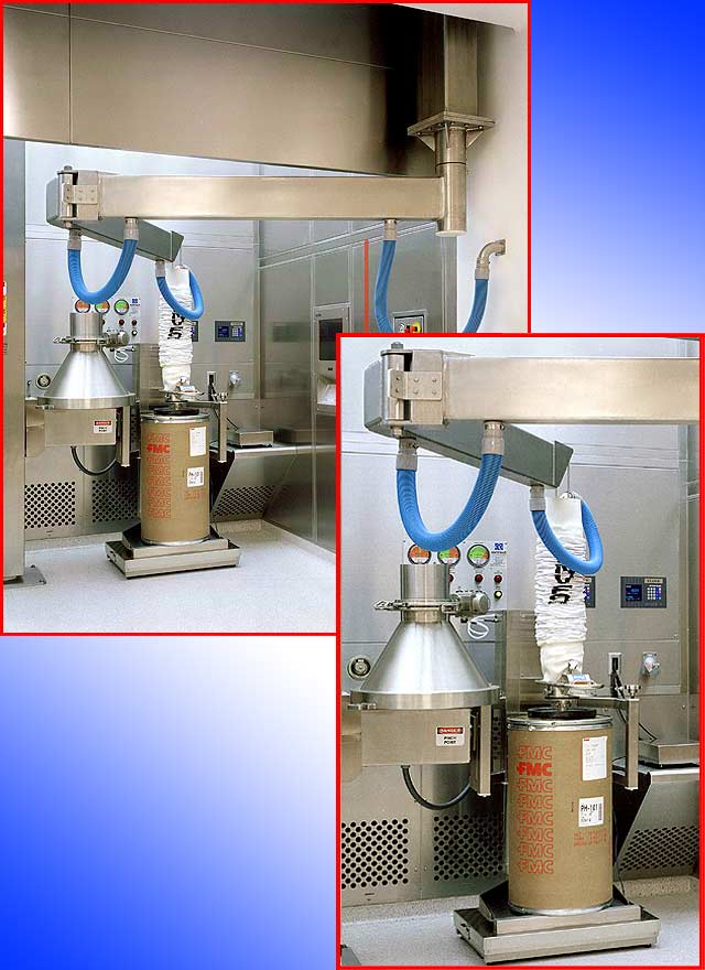 pharmaceutical application using VT180-2.5-D9 for handling fiber drums