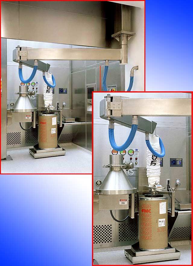 pharmaceutical application using VT180-2.5-D9 for handling fiber drums
