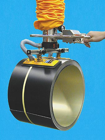 ANVER Vacuum Tube Lifter with Dual Rectangular Pad Attachment for Coil Lifting