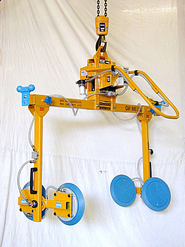 ANVER Four Pad Electric Powered Side Gripping Vacuum Lifter