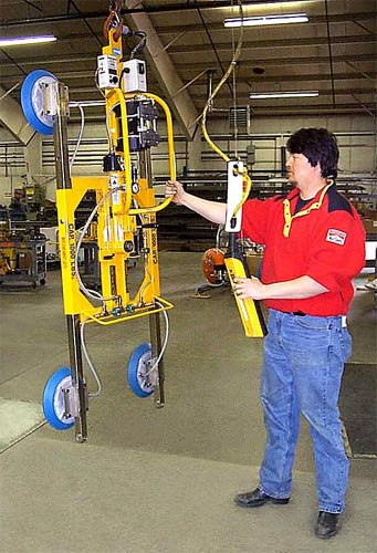 ANVER Electric Powered Vertical Vacuum Lifter with Manual Rotator