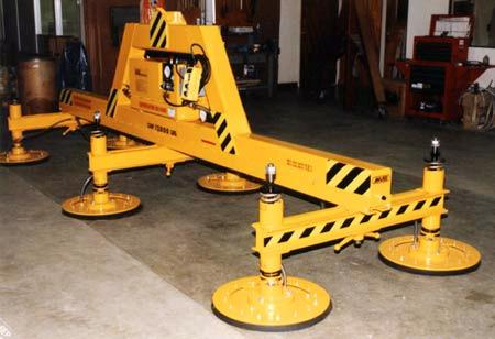 Six Pad Heavy Duty Electric Powered Vacuum Lifter