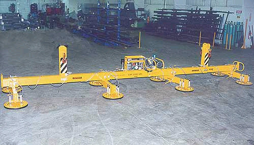 ANVER Electric Powered Vacuum Lifter for Lifting Steel Plate 30 ft x 12 ft (9 m x 3.6 m) weighing up to 12,000 lb (5443 kg)