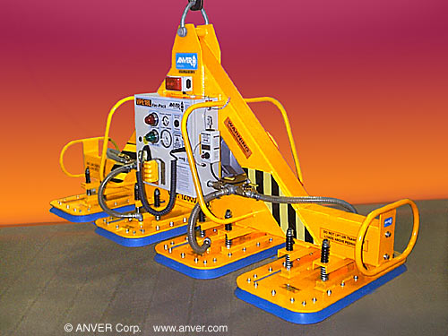 ANVER Four Pad Electric Powered Heavy Duty Vacuum Lifter