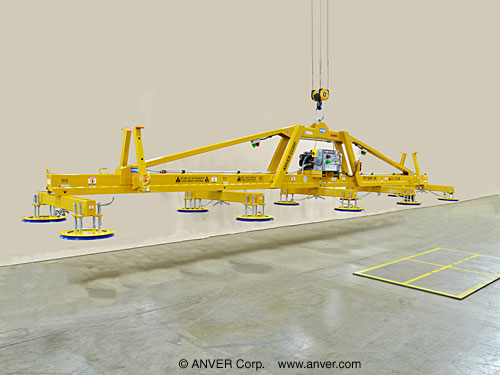 Ten Pad Electric Powered Heavy Duty Vacuum Lifter with Fixed High Capacity