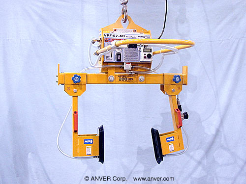 """ANVER Two Pad Side Gripping Electric Lifter with Oval Vacuum Cups for Lifting & Handling Enclosures 12"""" x 18"""" up to 200 lb (91 kg)"""