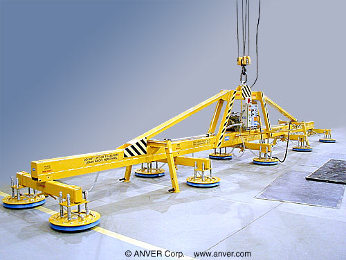 Ten Pad Mill Duty Electric Powered Vacuum Lifter for Lifting Steel Plate