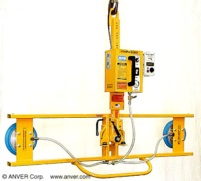 ANVER Custom Two Pad Electric Powered Vacuum Lifter with Manual Tilt and Rotate