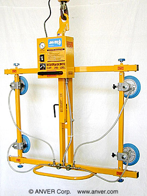 ANVER Four Pad Electric Powered Vacuum Lifter with Manual Tilt