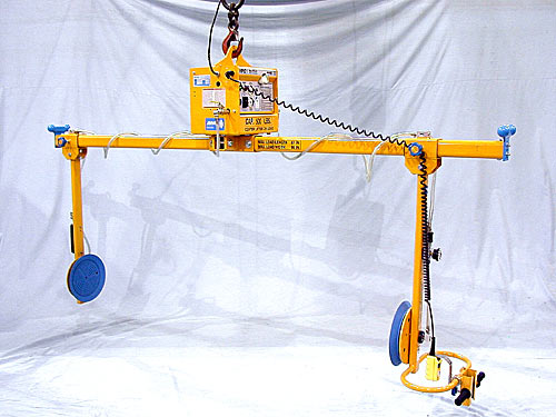 ANVER Two Pad Electric Powered Side Gripping Vacuum Lifter for Lifting & Handling Cooler Units 8 ft x 8 ft (2.4 m x 2.4 m) up to 500 lb (227 kg)