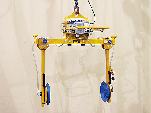"ANVER Two Pad Electric Side Gripper Vacuum Lifter with Manual Rotation for Refrigerator Cabinets 84"" x 48"" x 24"" (2.1 m x 1.2 m x 0.6 m) up to 600 lb (272 kg)"