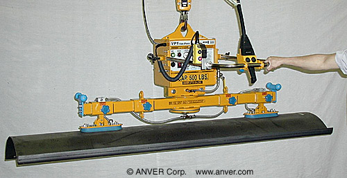 ANVER Two Pad Electric Powered Vacuum Lifter with Custom Pads for Handling Plow Blades, 8 ft x 6 ft (2.4 m x 1.8 m) up to 500 lb (227 kg)