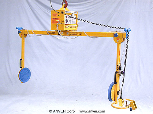 "ANVER Two Pad Side gripping Electric Powered Lifter with Manual Rotation for Lifting & Handling Refrigerators 87"" x 82"" (2210 mm x 2083 mm) up to 500 lb (227 kg)"