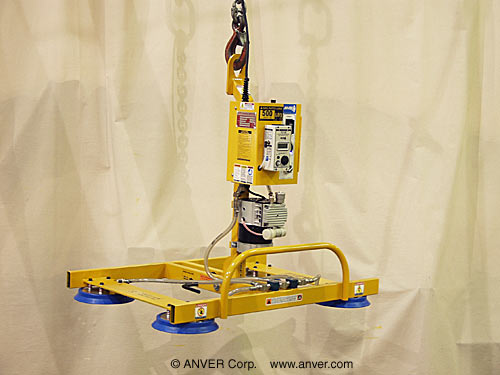 Four Pad Electric Powered Vacuum Lifter with Special Frame and Manual Tilt