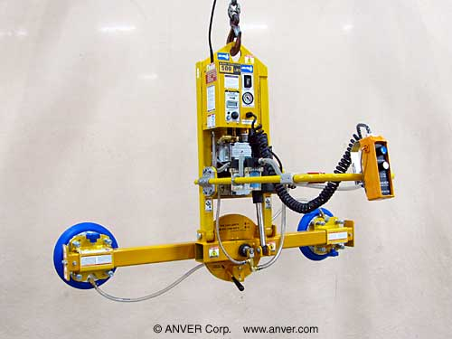 ANVER Two Pad Electric Powered Vacuum Lifter with Powered Tilt and Manual Rotate for Lifting, Tilting & Rotating Loads