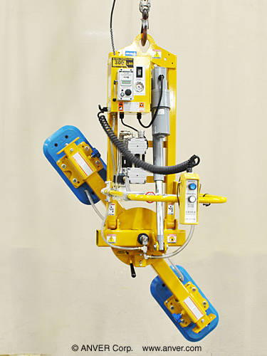 ANVER Electric Powered Vacuum Lifter with Powered Tilt and Manual Rotation for Lifting, Tilting & Rotating
