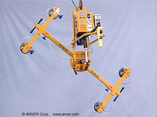 ANVER Four Pad Electric Powered Lifter with Powered Tilt and Manual Rotation for Lifting & Handling Steel Sheets 6 ft x 4 ft (1.8 m x 1.2 m) up to 227 kg)
