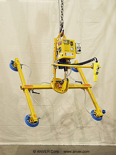 ANVER Electric Powered Tilter with Manual Rotation for Lifting, Tilting & Rotating Aluminum Sheets 8 ft x 6 ft (2.4 m x 1.8 m) up to 250 lbs (113 kg)