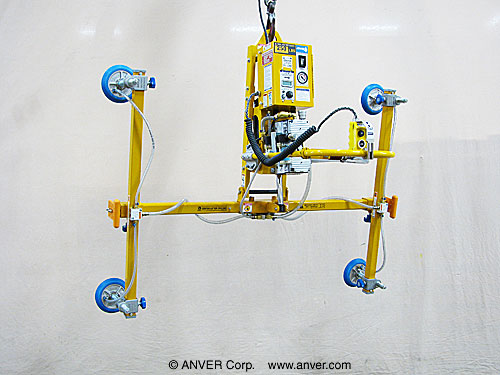ANVER Four Pad Electric Lifter with Powered Tilt for Lifting and Tilting Glass Panels 8 ft x 6 ft (2.4 m x 1.8 m) up to 250 lbs (113 kg)