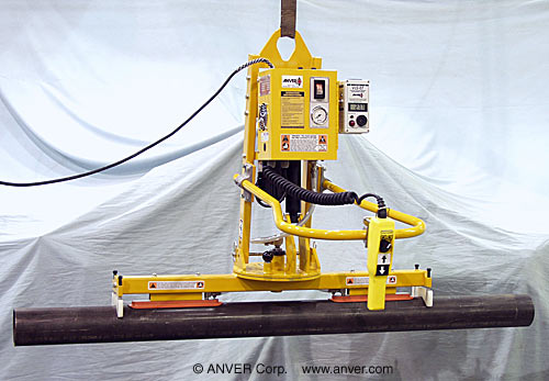 "ANVER Electric Powered Vacuum Lifter with Powered Tilt and Manual Rotation for Lifting, Tilting & Rotating PVC Pipe 6"" (15 cm) diameter, 12 ft (3.7 m) long up to 75 lb (34 kg)"