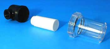 Plastic In Line Vacuum Line Filters have easy to replace filter elements