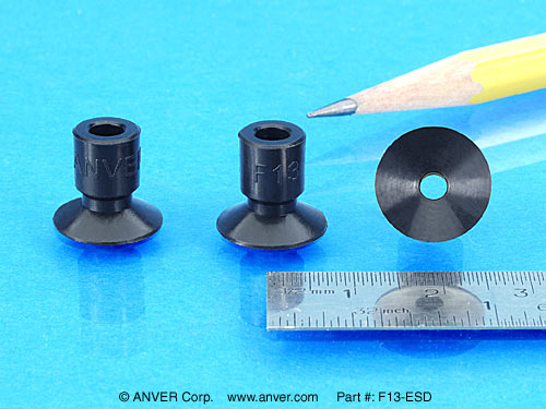 Miniature Suction Cups For High Tech Industries Model F13 Esd