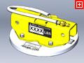 ANVER Custom FPA Foam Seal Vacuum Pad No.: FPA158G33-K1