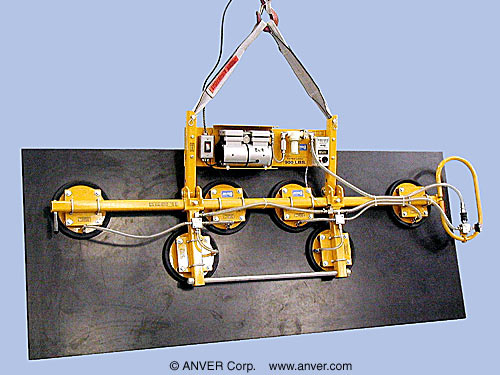 ANVER Six Pad Electric Powered Lifter with Gravity Tilt for Lifting and Tilting Stone Slabs 10 ft x 8 ft (3.3 m x 2.4 m) up to 900 lb (408 kg)